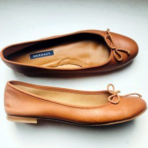 Margaux The Demi Ballet Flat in Saddle Brown 41.5